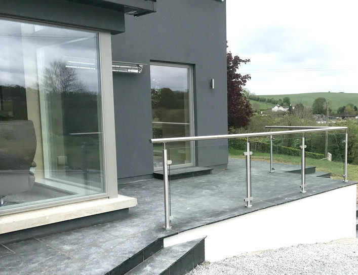 Glass Balustrades | Advanced Glass Cork